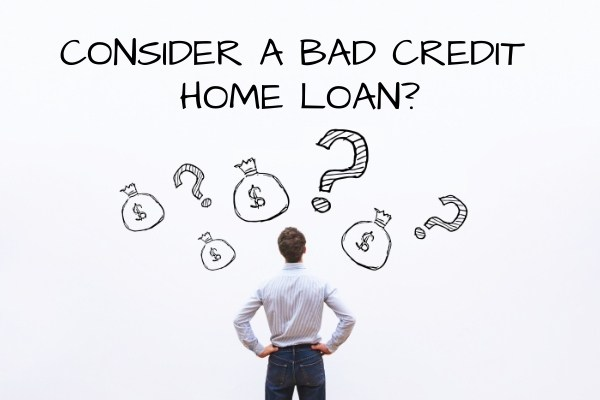 man considering a bad credit home loan